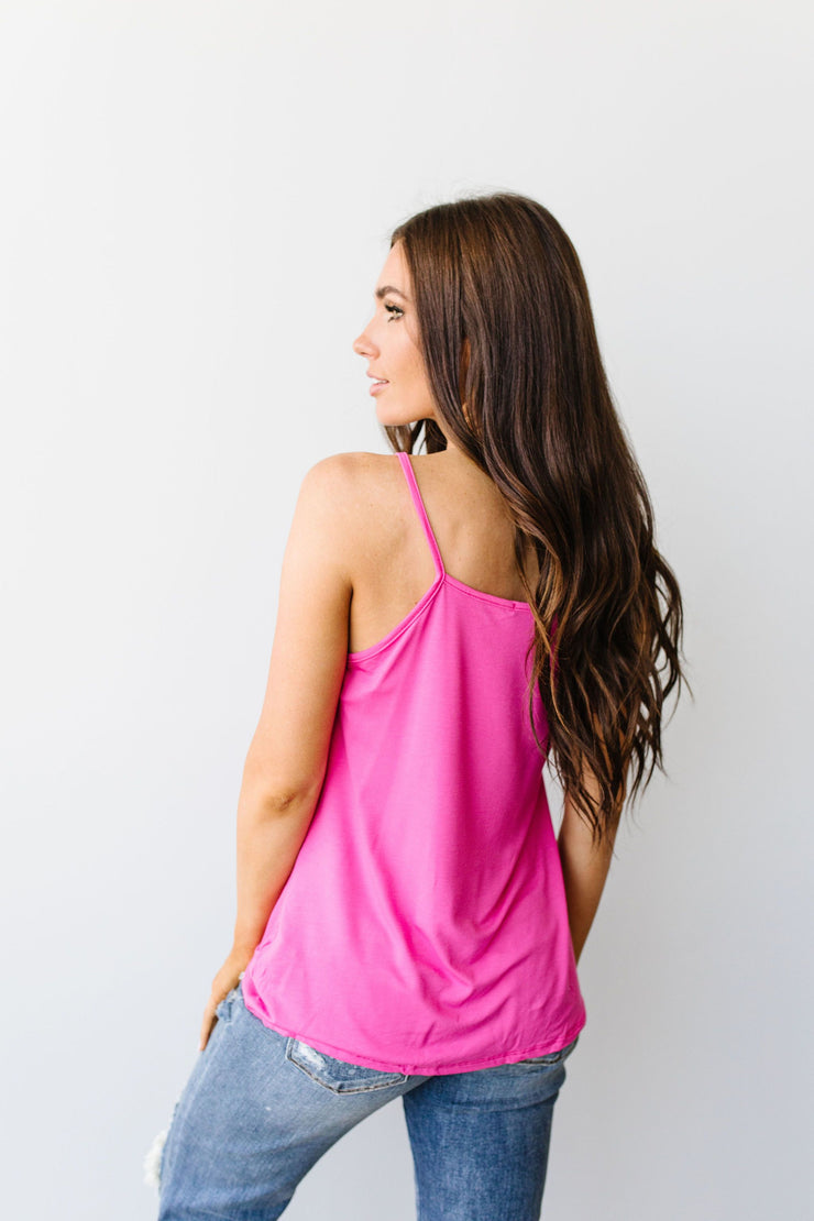 Simply Twisted Tank In Pink