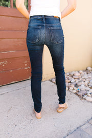 Sleek And Sophisticated Dark Wash Jeans