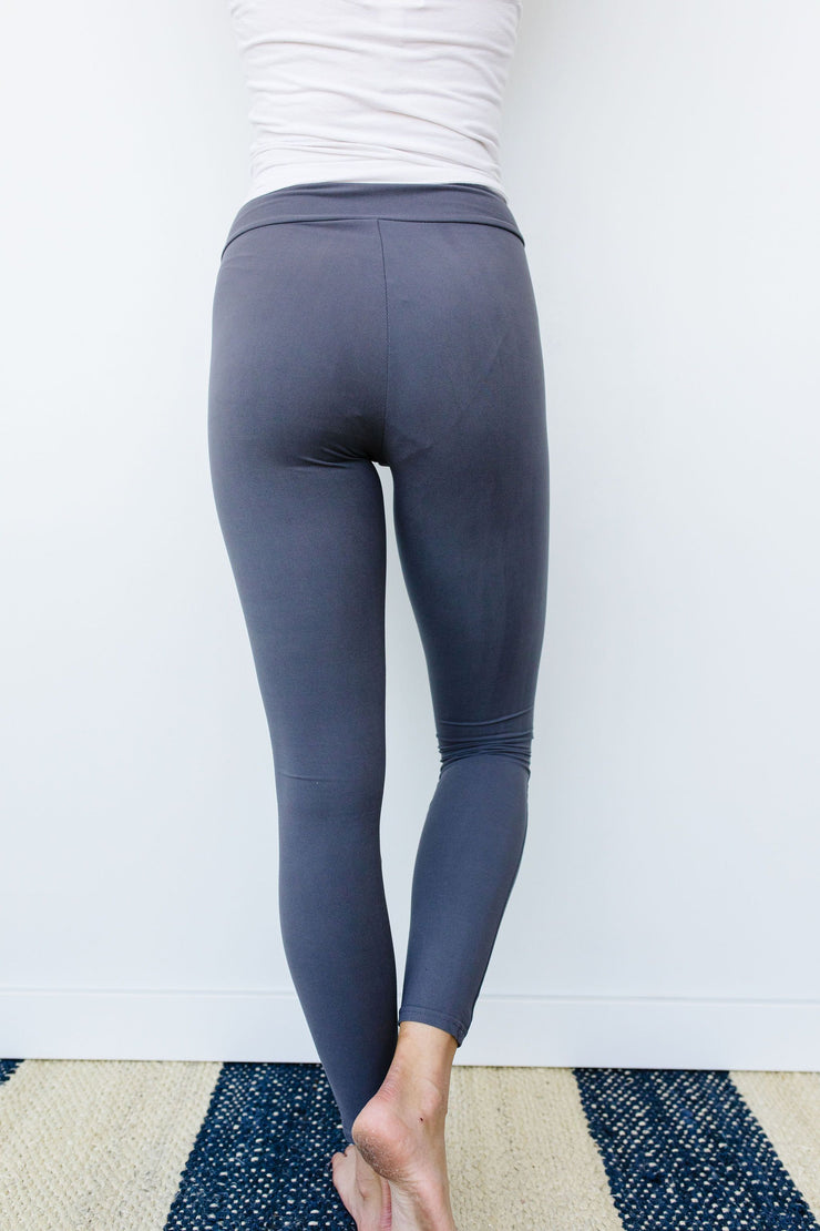 Soft As Butter Moto Athletic Leggings In Charcoal