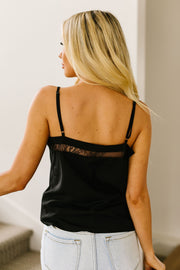 The Lace Escape Cami In Black