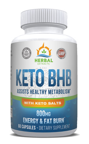 Keto BHB Metabolism Support | 60 Capsules | Herbal Extracts