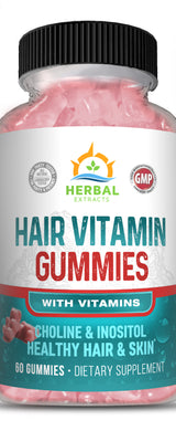 Hair Gummy Vitamins | Herbal Extracts