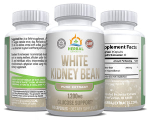 White Kidney Bean Pure Extract | 60 Capsules | Herbal Extracts
