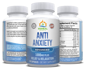 Anti-Anxiety | 60 Capsules | Herbal Extracts