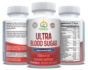 Ultra Blood Sugar | 60 Capsules | Herbal Extracts