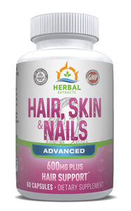 Hair Skin & Nails Advanced | 60 Capsules | Herbal Extracts