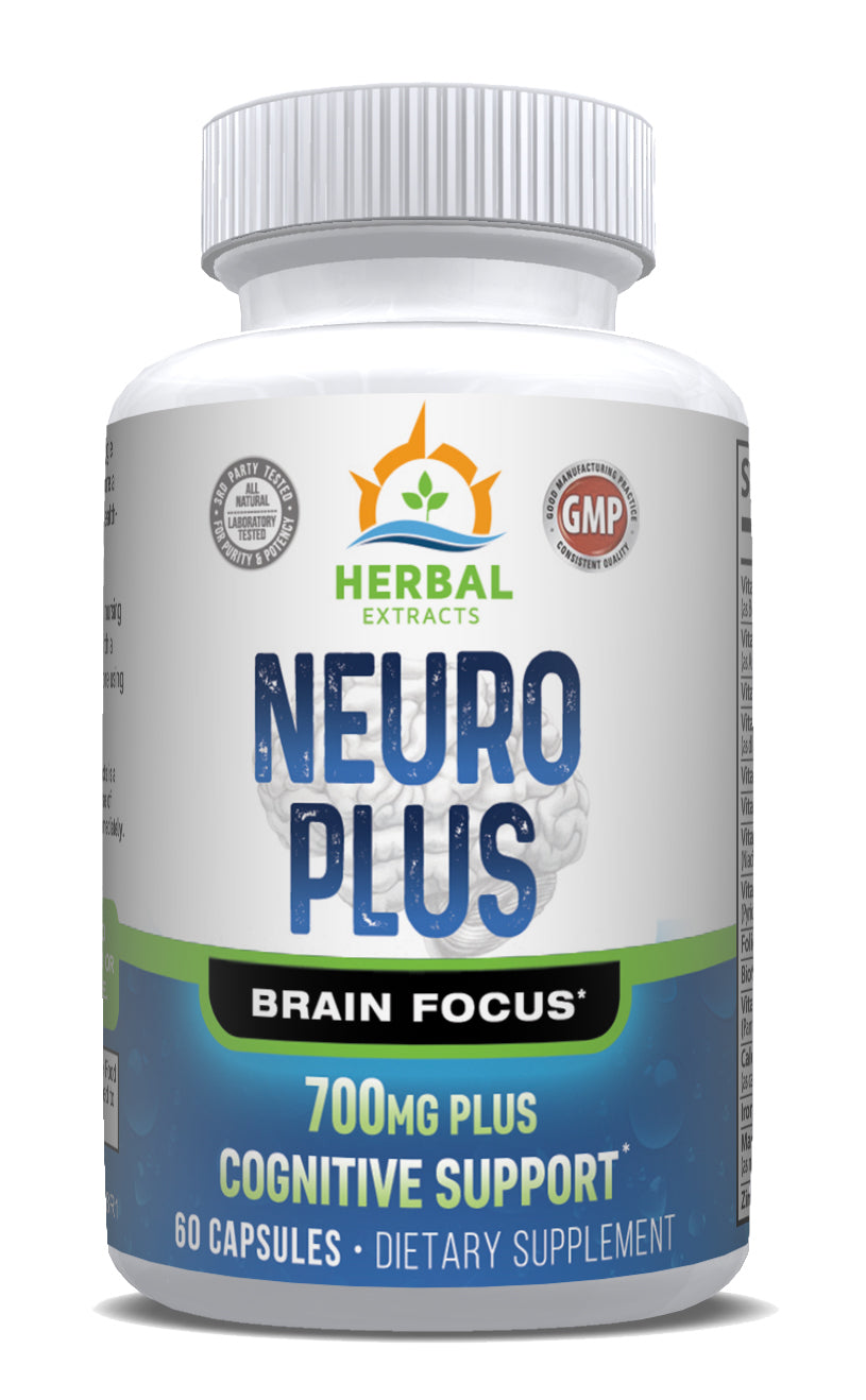 Neuro Plus Brain Focus | 60 Capsules | Herbal Extracts