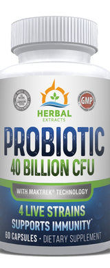 Probiotic 40 | 60 Capsules | Herbal Extracts