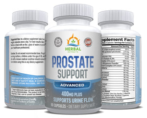 Prostate Support Advanced | 60 Capsules | Herbal Extracts