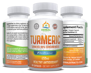 Turmeric Extract | 60 Capsules | Herbal Extracts