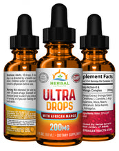 Load image into Gallery viewer, Ultra Drops w/ African Mango | 200 Mg | Herbal Extracts
