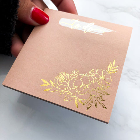 To Do Floral Sticky Notes
