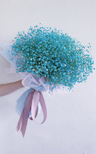 Load image into Gallery viewer, Blue Baby's Breath Bouquet