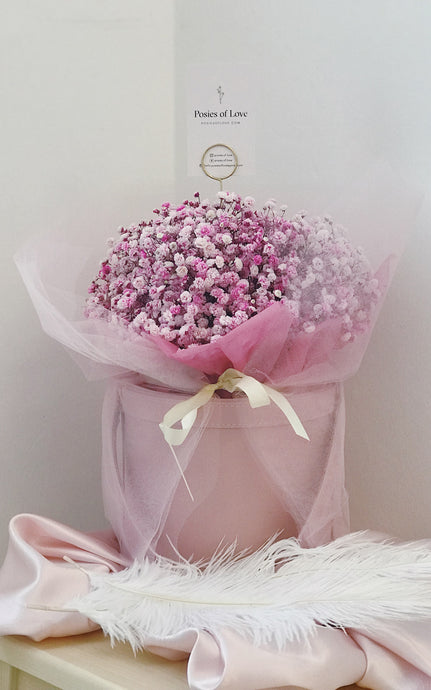 Baby's Breath Bloom Bucket (Pink-Pink)