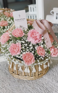 Field of Dreams - Carnation Tassel Basket