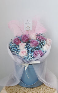 Rose Bloom Bucket (Lavender & Pink - Blue)