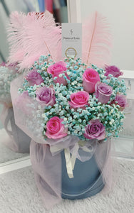 Rose Bloom Bucket (Lavender & SPink - Blue)