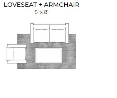 rug placement living room for 5 x 8 rug for loveseat and armchair