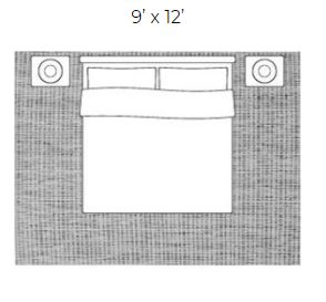 9 x 12 area rug for king size bed, bedroom with area rug