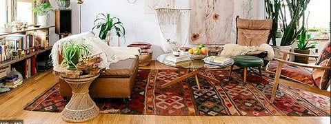 Bohemian Interior Design Style, Eclectic Interior Design Style, Traditional Rug, Living room rug,