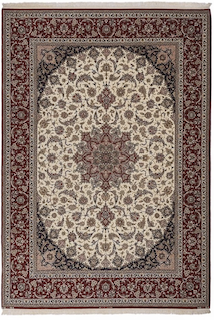 Persian rug demonstrating the intricate designs Persian rugs create.