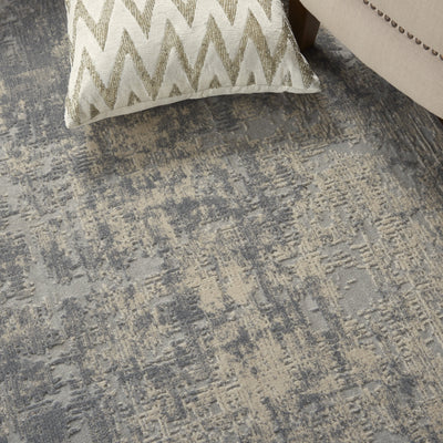 Rustic Textures RUS01 Ivory & Silver