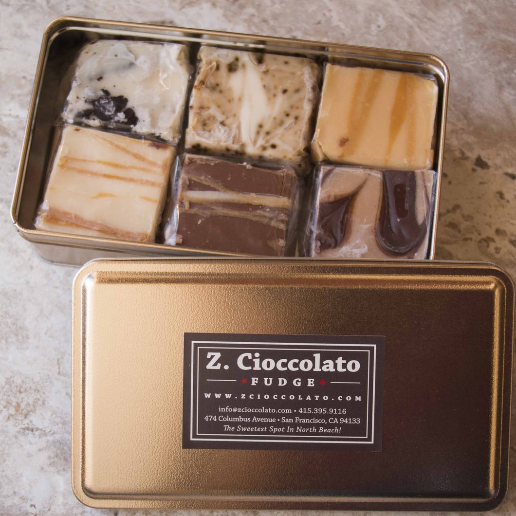 Holiday 6-Piece Best Fudge Tin