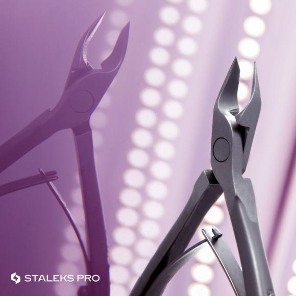 STALEKS PRO Cuticle nippers for manicures and pedicures.
