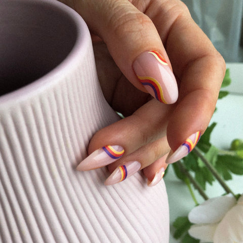 Beautiful manicure with IBDI nail decals and sliders