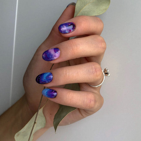 Really beautiful marble nail are