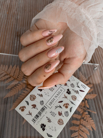 Beautiful manicure with waterslide nail decals!