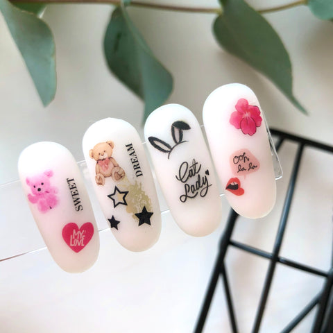 Fun and cute waterslide nail decals