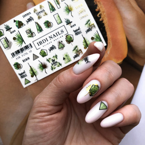 Summer nail art decals