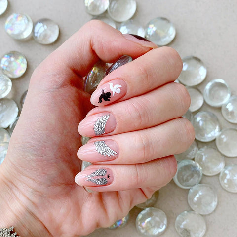 Angel waterslide nail decals