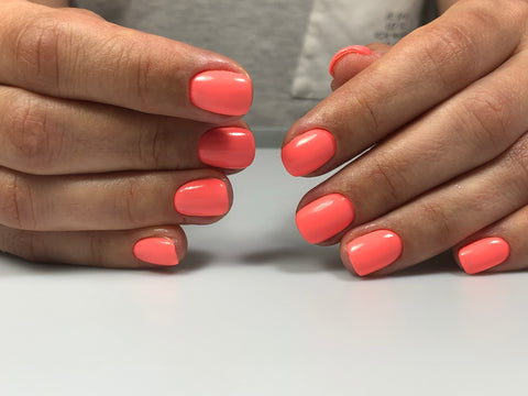 Gel polish manicure using nail drill bits