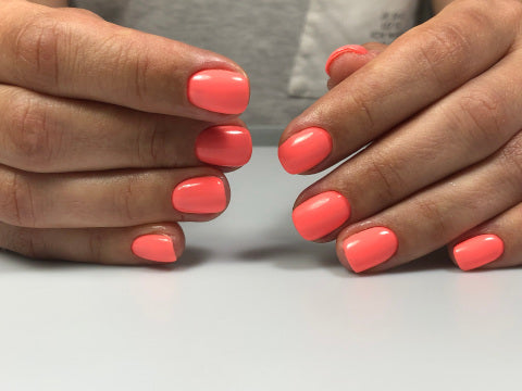 Orange Haruyama gel polish
