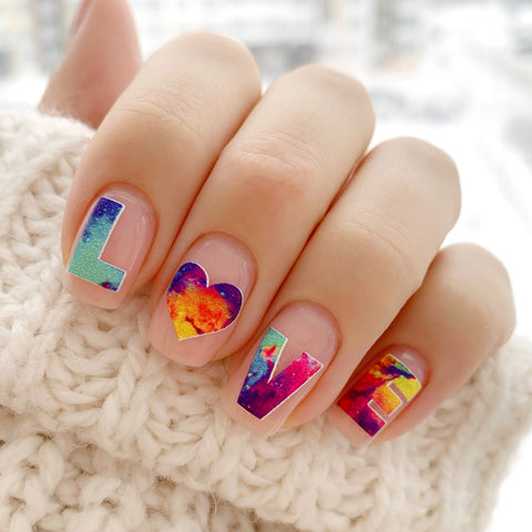 Cosmic love nail decals
