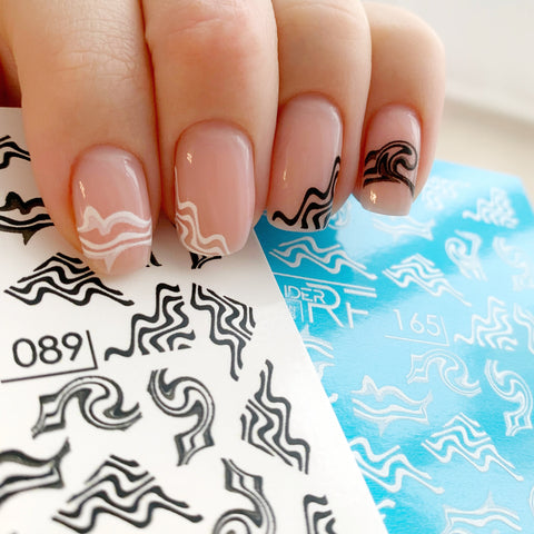 Russian nail decals