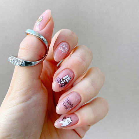 Spring waterslide nail decals