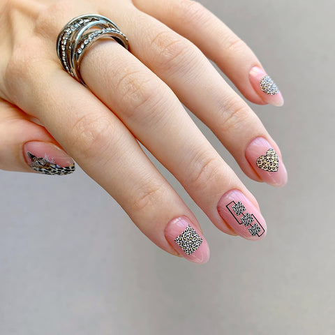 Leopard pring nail decals