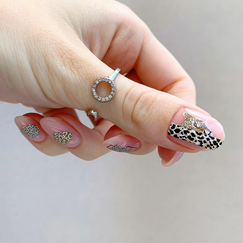 Leopard waterslide nail decals