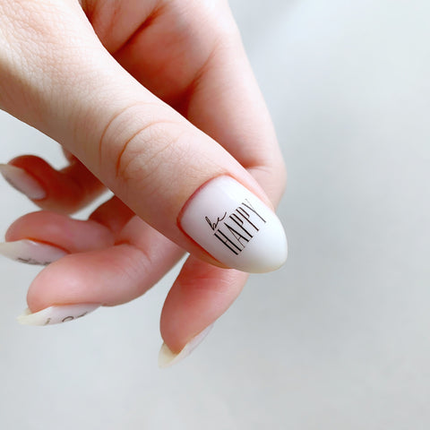 Positive vibe nail decals