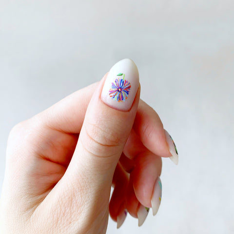 Flower nail decals