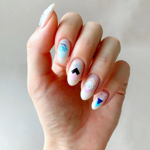 Geometric nail decals