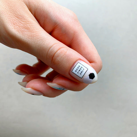 Good vibes Slider.RF nail decals