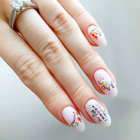 Love nail decals perfect for Valentines Day