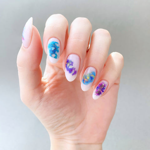 Abstract nail decals