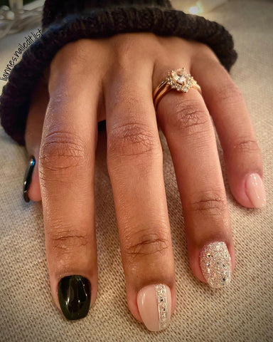 Beutiful gel polish manicure