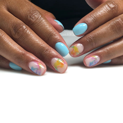 Beautiful water color nail decals and sliders