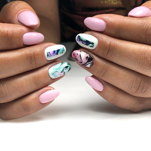 beautiful water color nail decals for stunning manicure